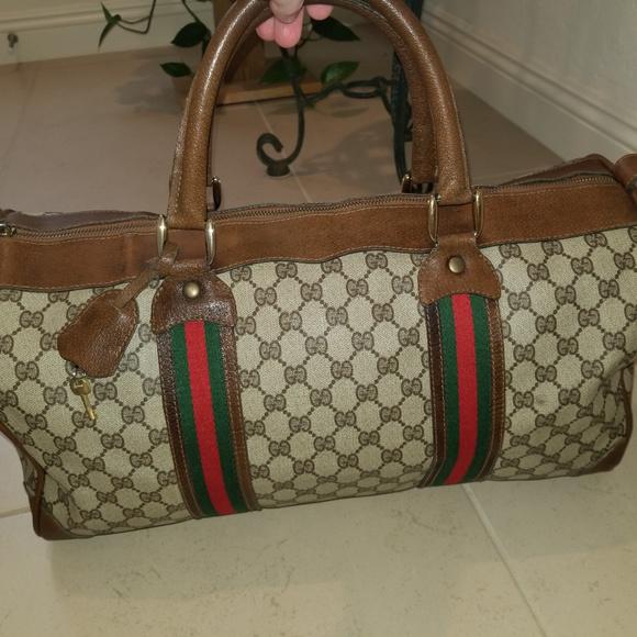 0d000d7505 Gucci Bags | Vintage Web Stripe Original Gg Canvas Boston | Poshmark